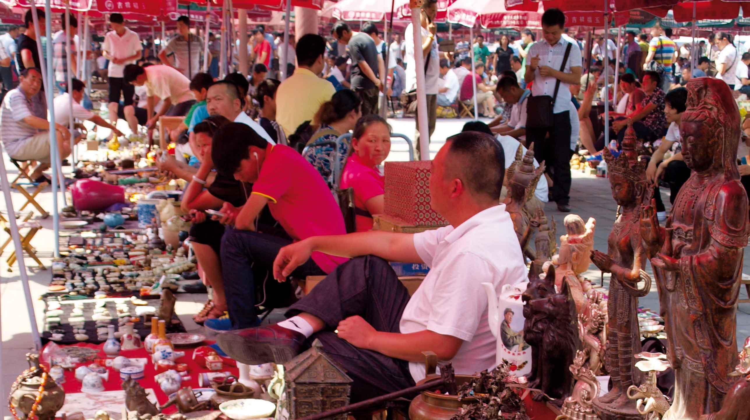 Chiny – trzej mandaryni z pekińskiego targu