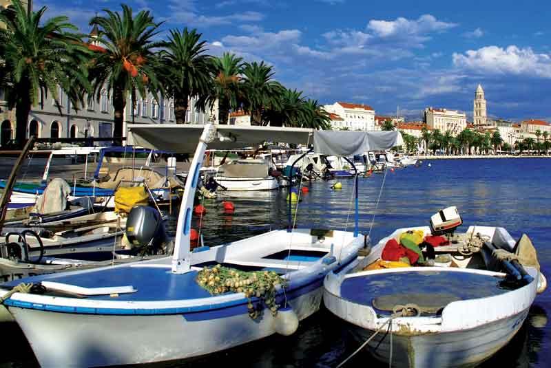 View of Split port and city - Croatia