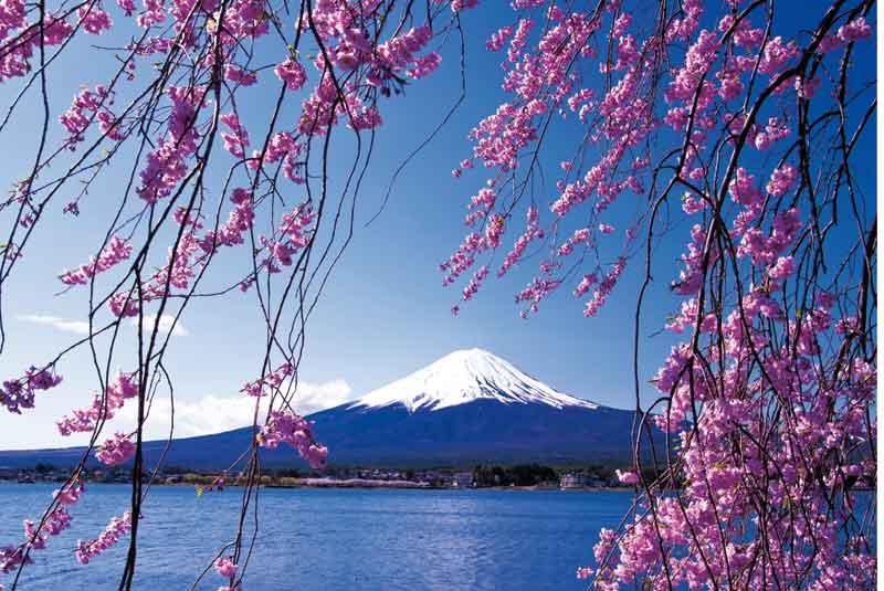 Japonia – Kachigawa-ko, zwierciadło Fudżi