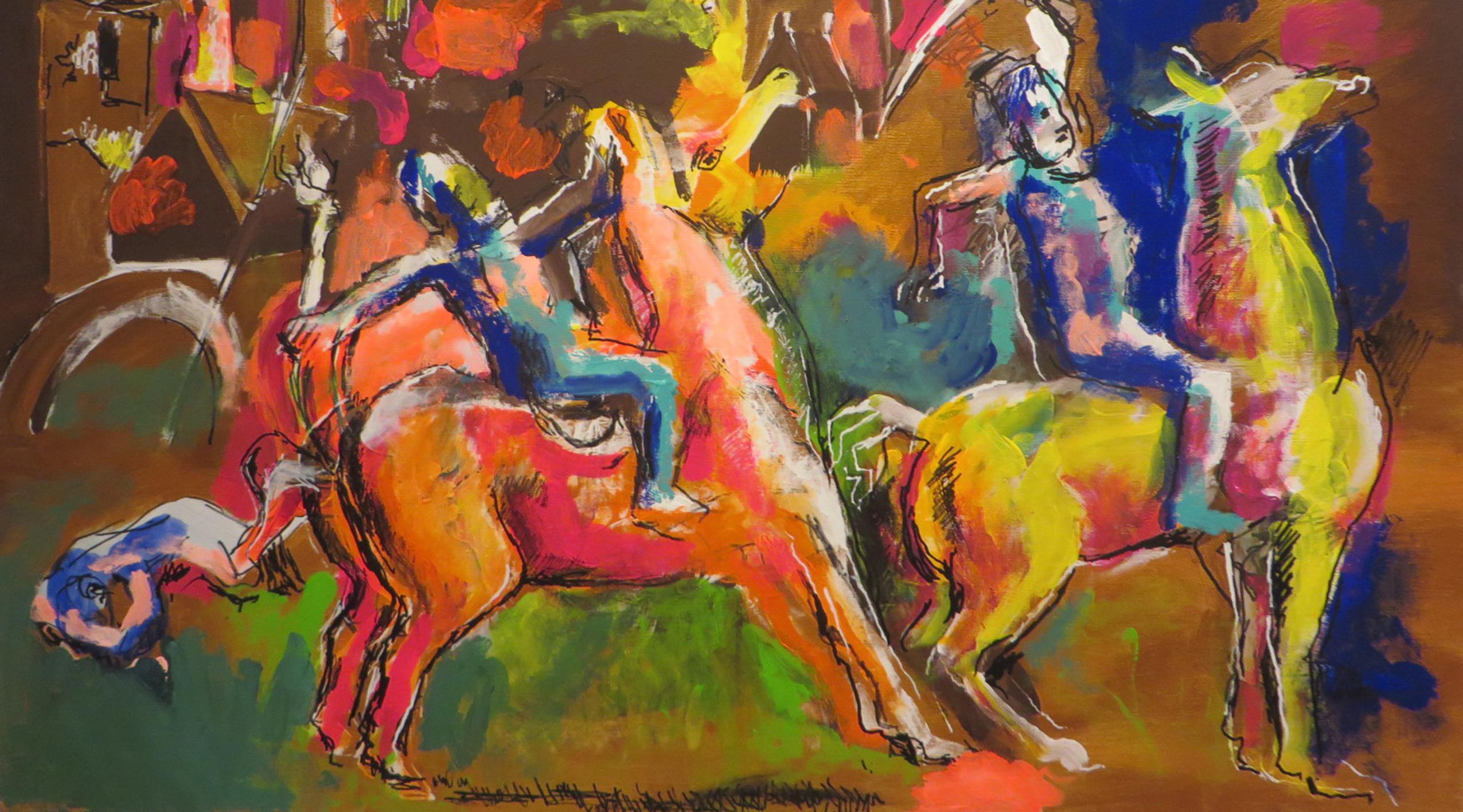 Noblista maluje Chagalla