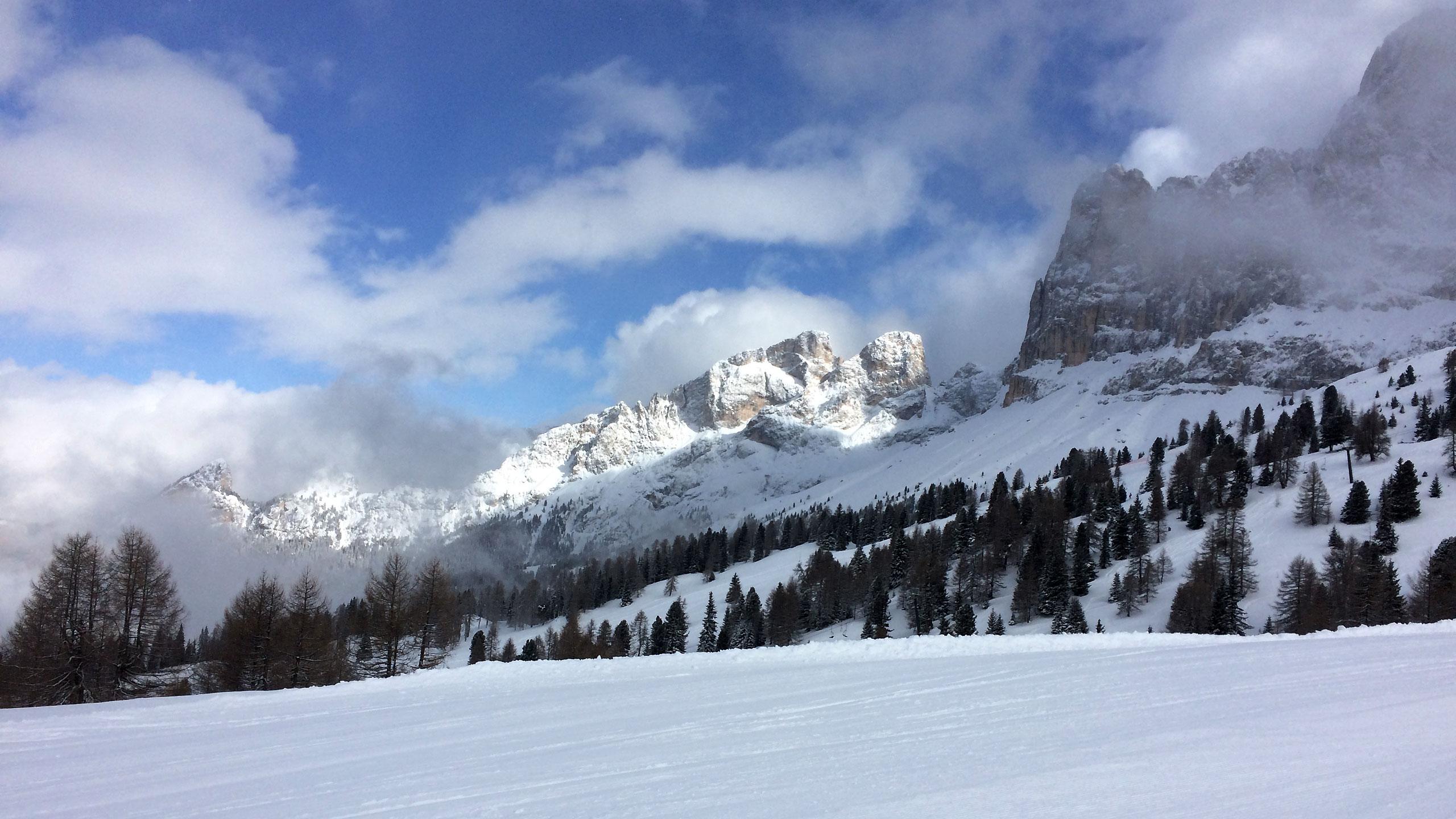 Rosengarten z tras narciarskich Carezzy