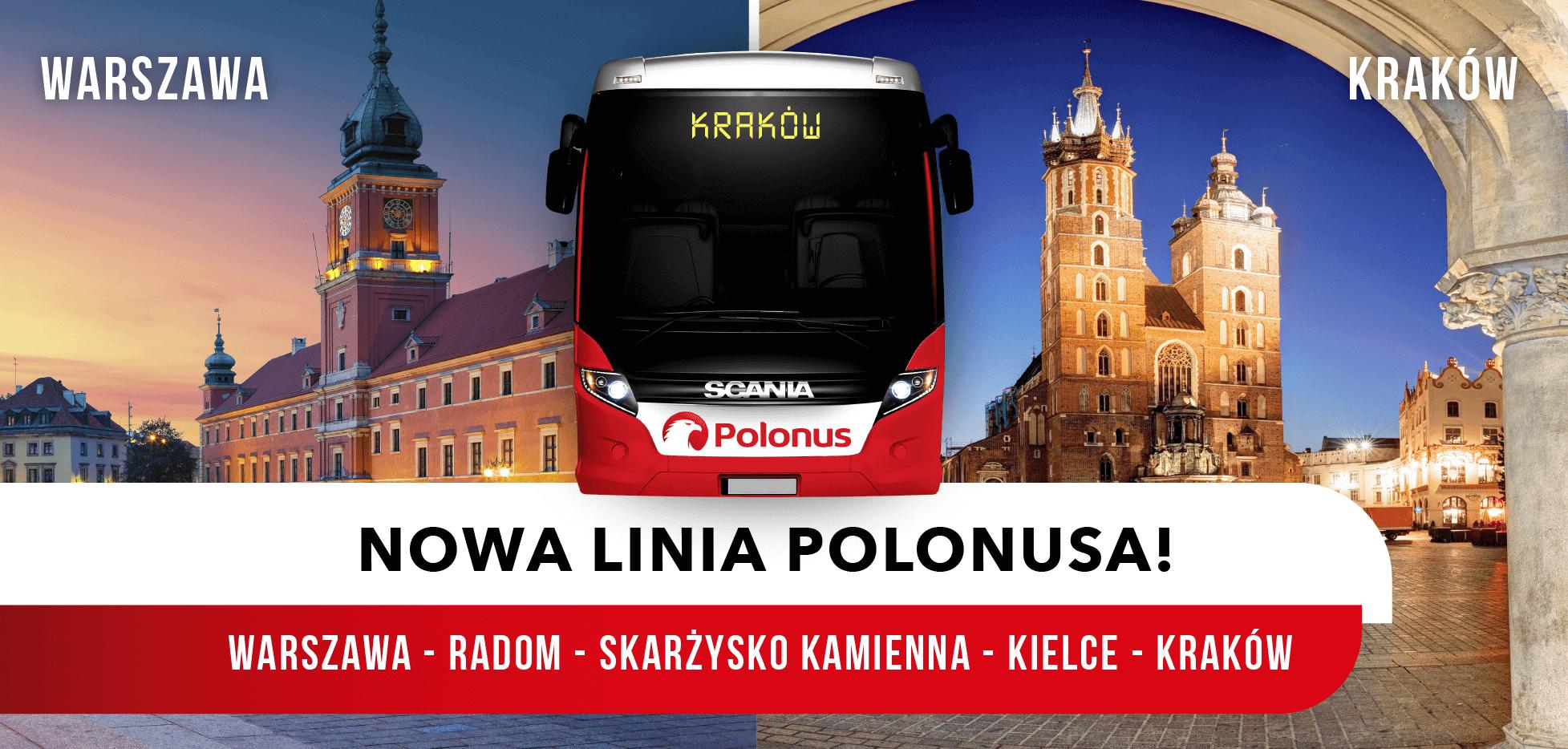 Startuje nowa linia Polonusa z Warszawy do Krakowa!