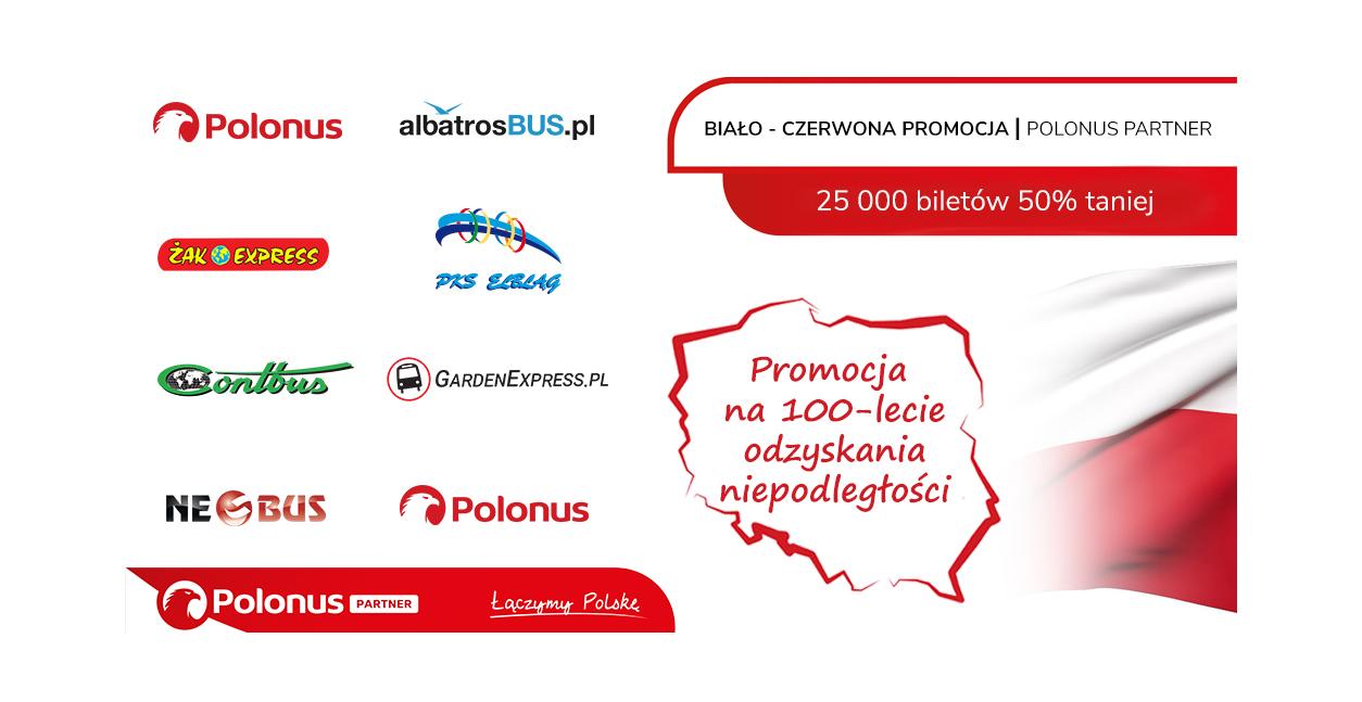 Biało-czerwona promocja Polonus Partner z 25000 biletów -50%!